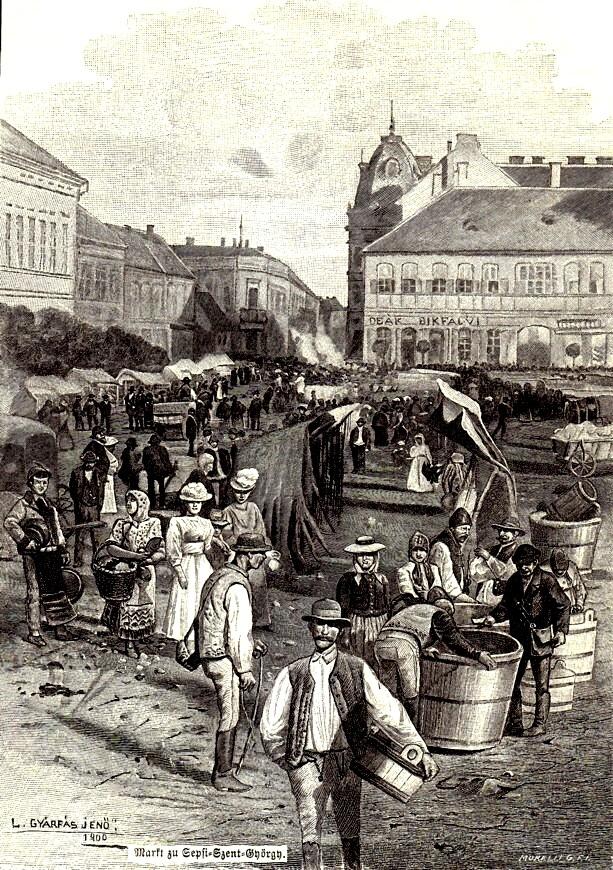 Sfântu Gheorghe, piaţa