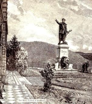 Sighişoara, statuia poetului Petofi Sandor