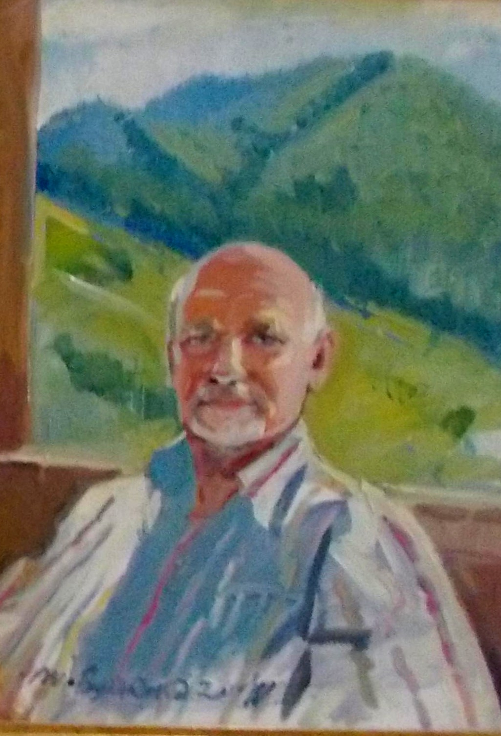 Pictorul Ioan Bodnar. Autoportret