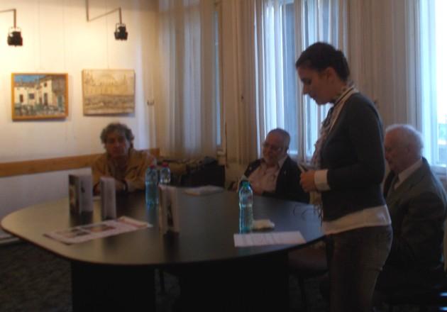 Violeta Codorean şi oaspeţii oraşului Vatra Dornei: Constantin Horbovanu, Menahem Falek şi Radu Bercea