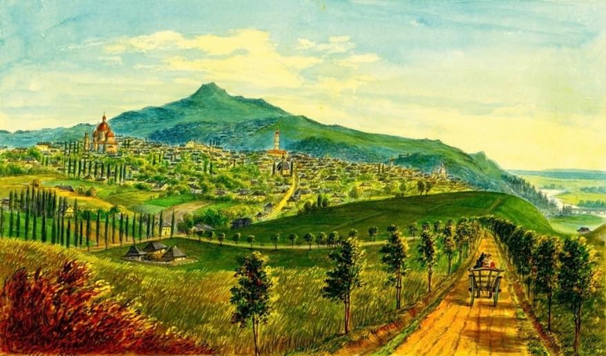 Cernăuţi, intrarea în oraş – de Franz Xaver Knapp