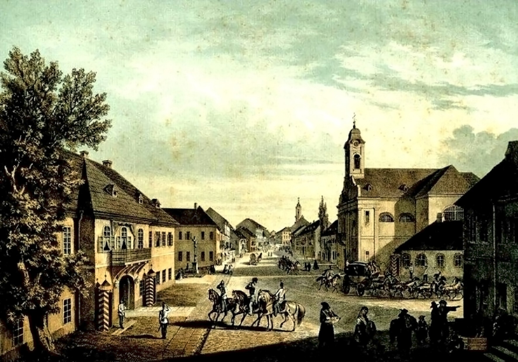Cernăuţi, Uliţa Mare – de Franz Xaver Knapp (1809-1883)