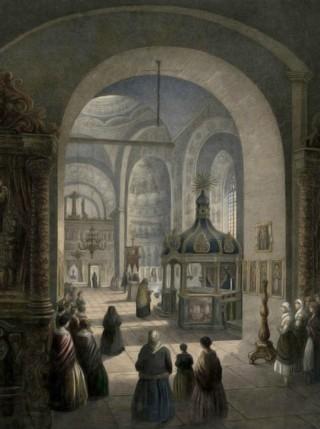 Cernăuţi, interiorul Bisericii Mitropolitane – de Franz Xaver Knapp