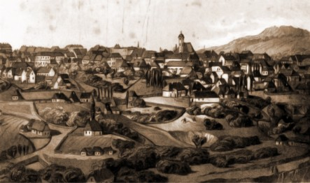 Cernăuţi, 1832 – desen de I. Schubirsz