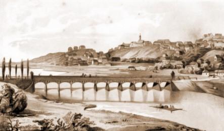 Cernăuţi, podul de peste Prut – desen de I. Schubirsz