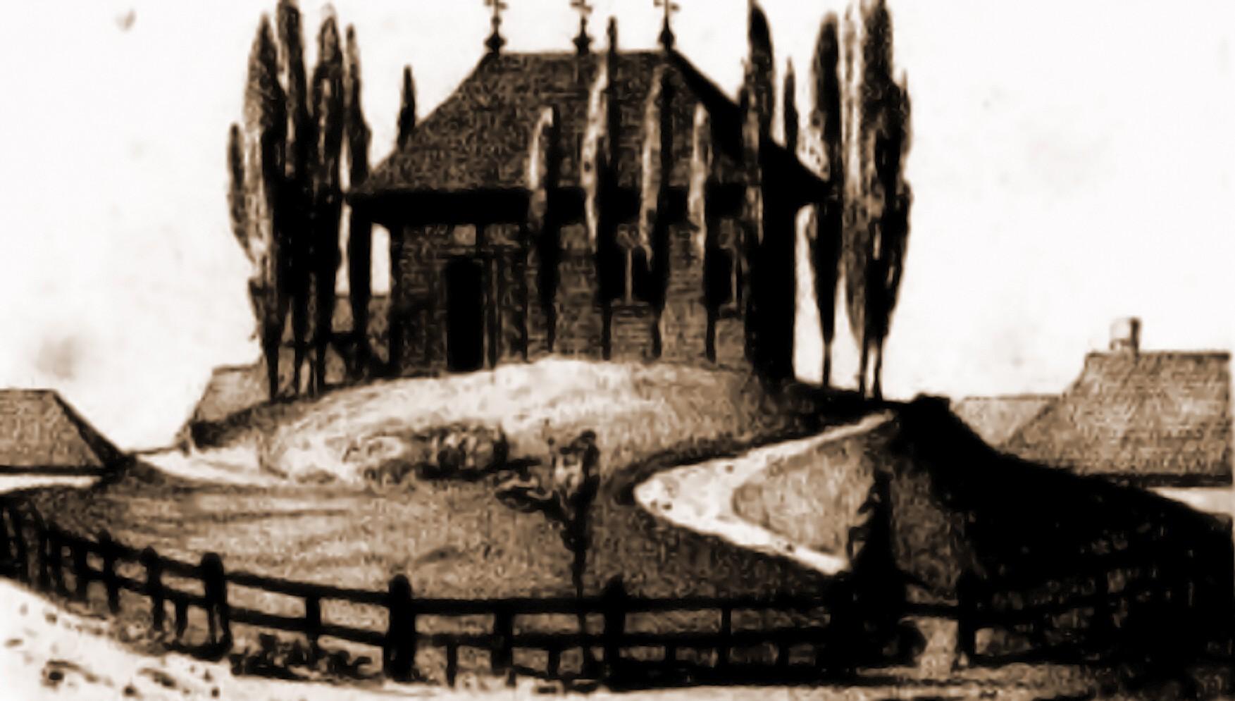 Cernăuţi, biserica Adormirii Maicii Domnului (Sfânta Maria) – desen de I. Schubirsz