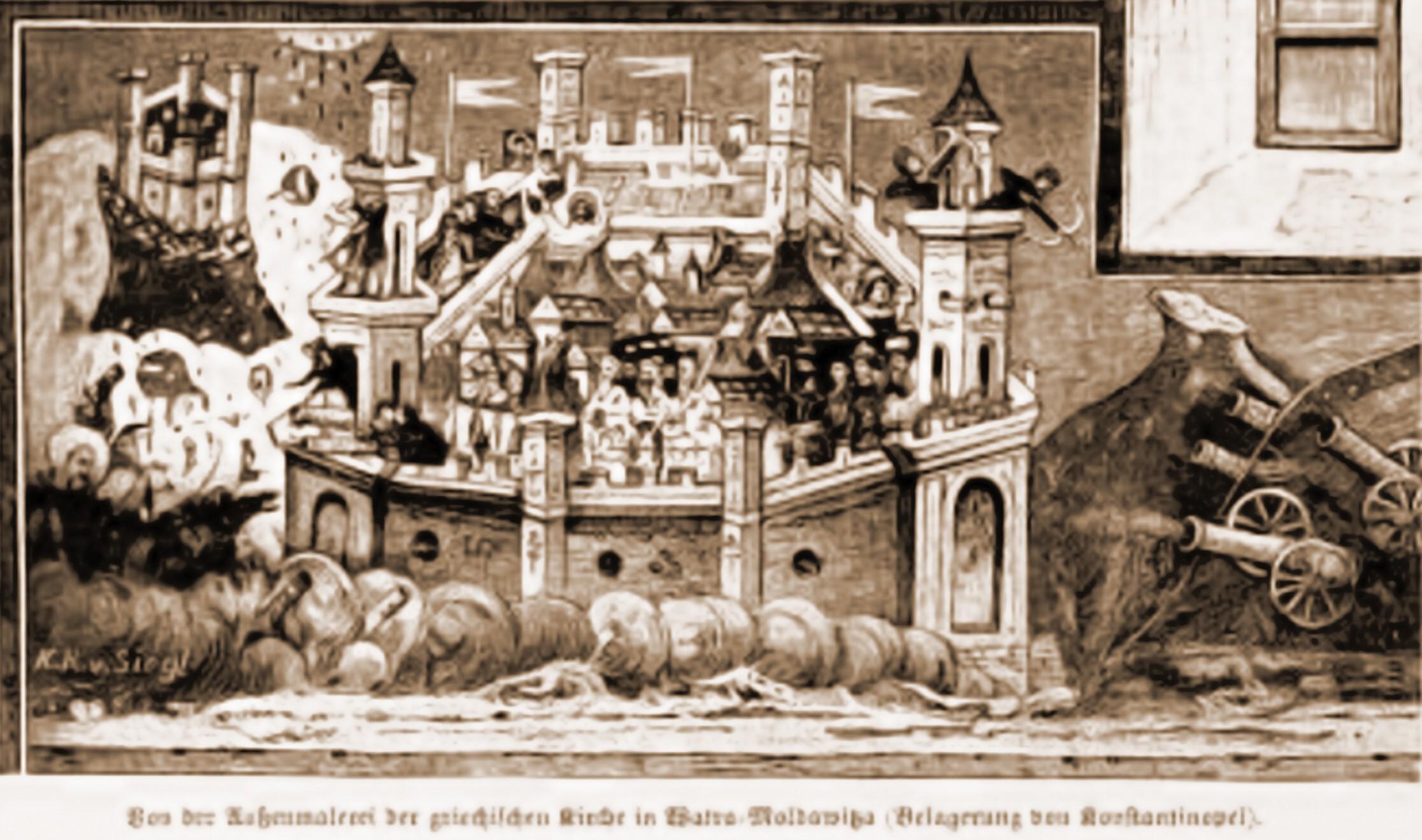 Fresca integrală, desenată de Rudolf Bernt (1844-1914)