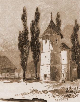 Rădăuţi, clopotniţa Bogdaniei – de Rudolf Bernt (1844-1914)