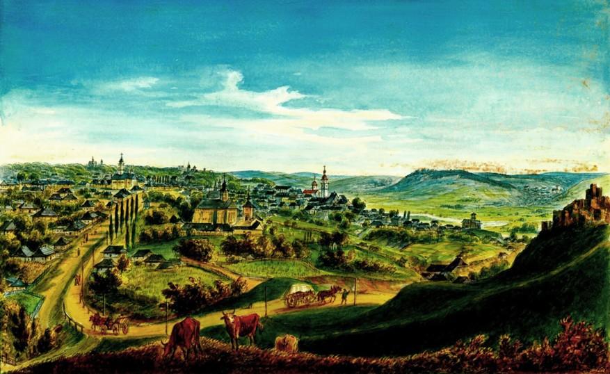 Suceava – acuarelă de Franz Xaver Knapp (1809-1883)