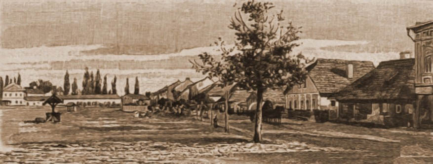 Cernăuţi, cazarma austriacă – desen de Rudolf Bernt (1844-1914)