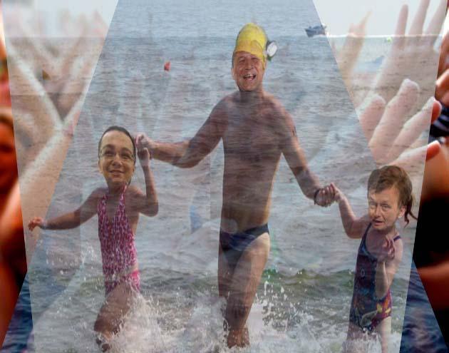 """Traian Băsescu: """"Măi copii, drumul spre Cotroceni începe de la Marea... baie de mulţime, măi!""""."""
