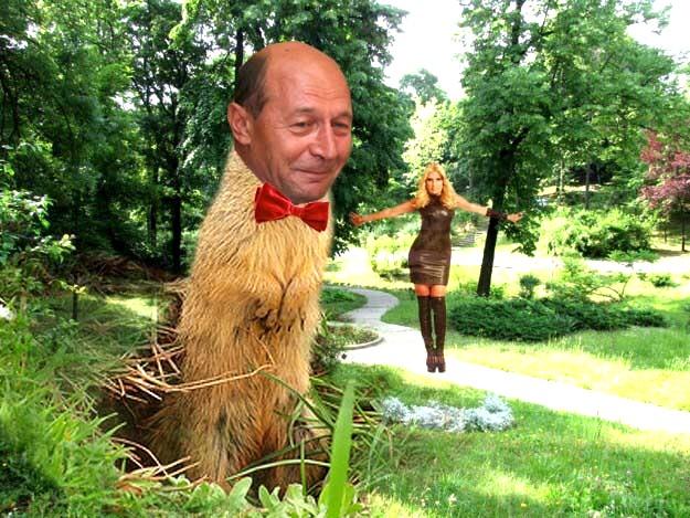 Traian Băsescu, în parcul Palatului Cotroceni: Adică un biet bugetar să nu aibă voie să se facă fermier!