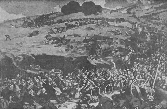 Bătălie, cu bucovineni, în Polonia rusească - Gazeta Ilustrată din 20 dec. 1914