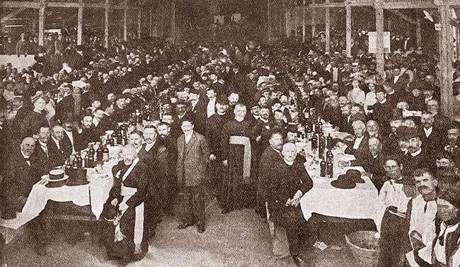 Blaj 1911 SERBĂRILE DE LA BLAJ 1911 Banchetul