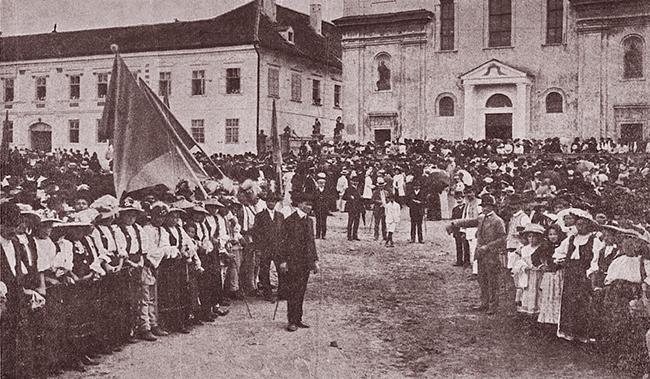 Blaj 1911 SERBĂRILE DE LA BLAJ 1911 inainte de liturghie