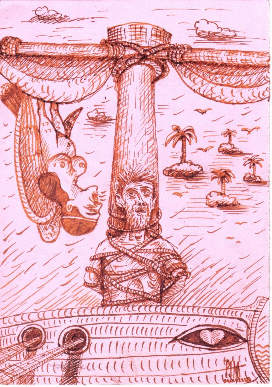 Blind / Orb - desen de Mihai Pânzaru-PIM