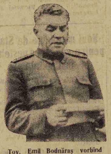 Emil Bodnăraş, vorbind poporului