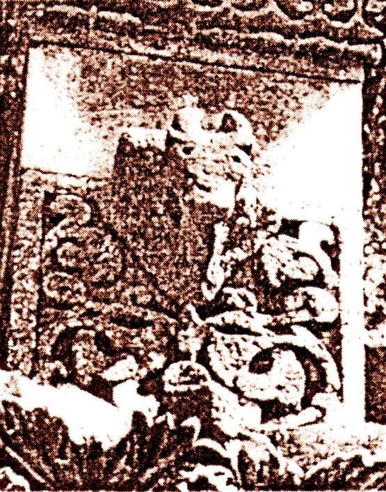 Capul de bour, într-un relief selgiucid de pe moscheea mare din Diyarbakir, sec. XIII
