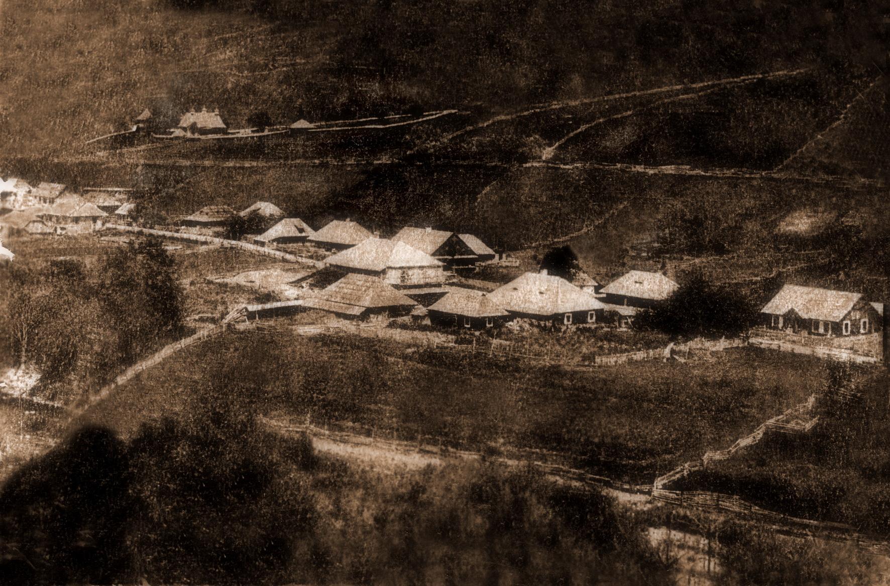 Satul Breaza, în 1880