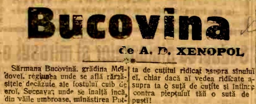 Adevărul, 15 octombrie 1914, p. 1