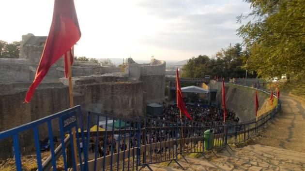 Şanţul Cetăţii Sucevei, la ora începerii spectacolului de vineri