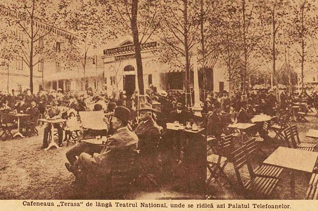 București cafeneaua Teatrului Național