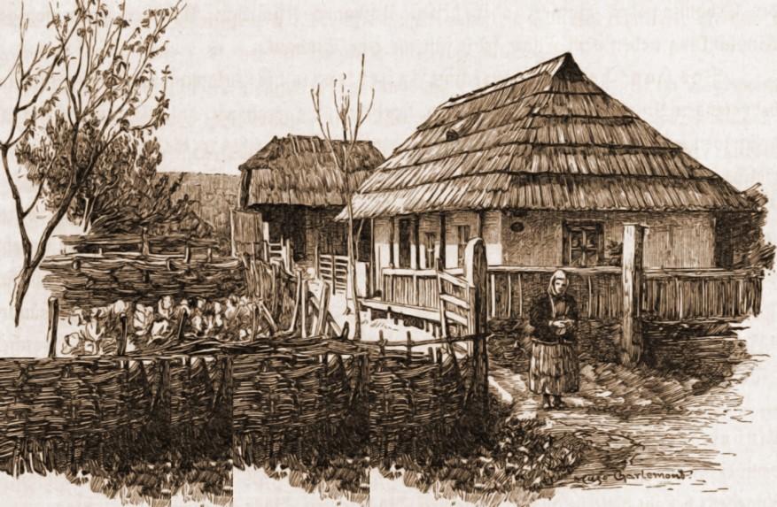 Gospodărie lipovenească – de Mattias Adolf Charlemont (1820-1871)