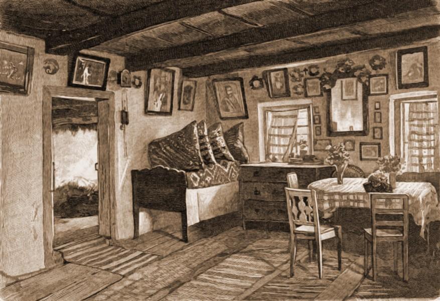 Interior de casă ungurească din Dorneşti – de Charlemont