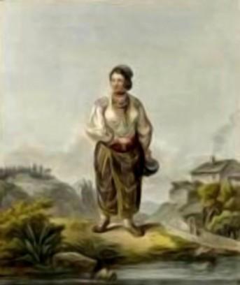 Fată din Iacobeni, în 1805 – de Franz Jaschke (1775-1842)