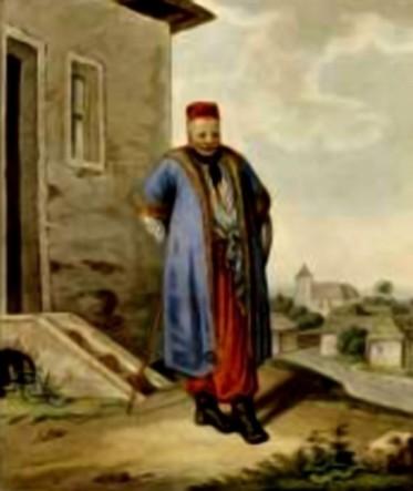 Negustor armean din Siret – acuarelă de Franz Jaschke (1775-1842)