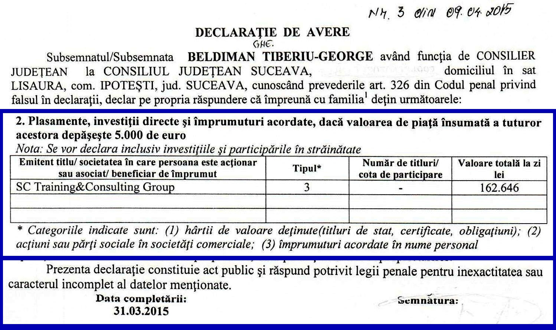 CJ Beldiman Tiberiu Declaratie 2015