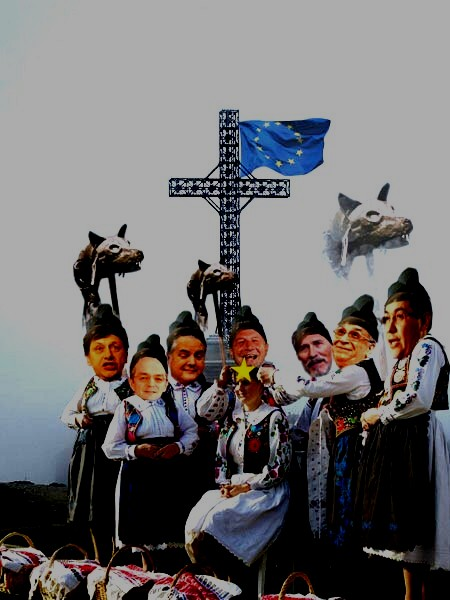 Tarabostes Victor Pontas: Tarabostes Traian Băsescus, după ce -i pui cununa europeană de spini, o urcăm pe cruce!...