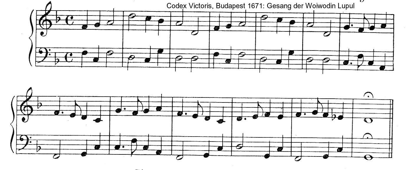 Cantecul voievodesei Lupu 1671
