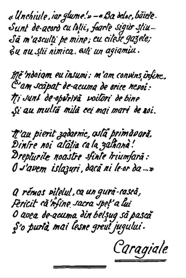 Caragiale Boul si vitelul Calendar 1909 p 53