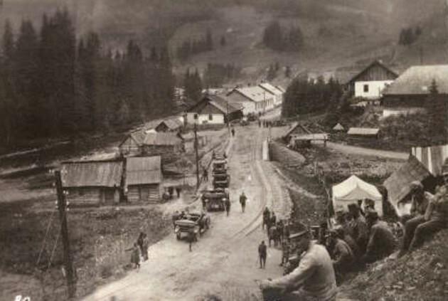 Cârlibaba, în Primul Război Mondial