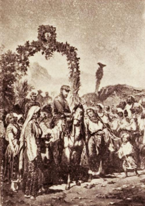 Sosirea lui Carol I în Bucureşti