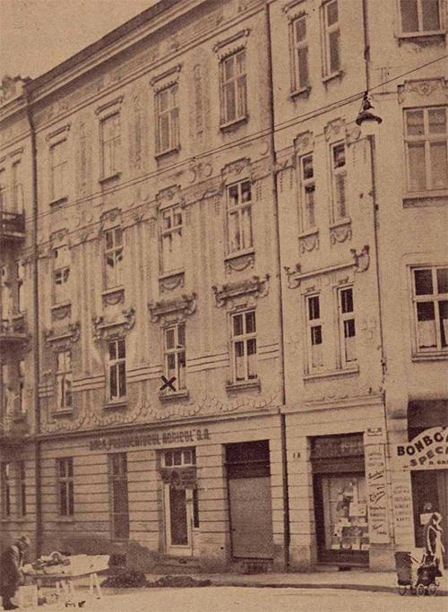 Casa în care a fost găsită asasinată (X) Roza Hirsch