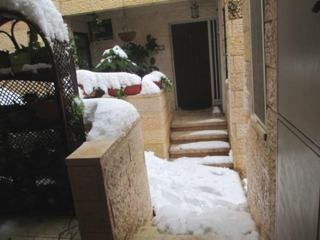 Casa poetului Menachem Falek, asaltată de ninsori