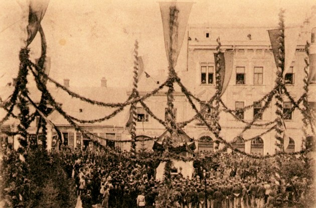 Cernauti Aniversarea Regimentului 41 Print Eugen