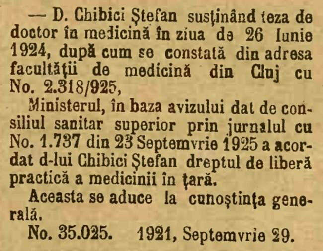 Chibici Stefan 1925 Cluj