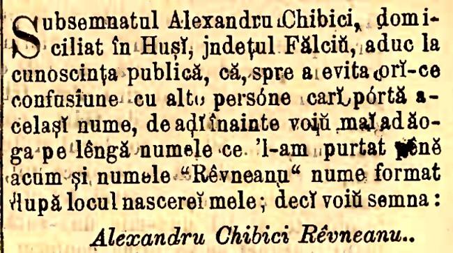 Cibici Ravneanu 1879 Monitorul Oficial