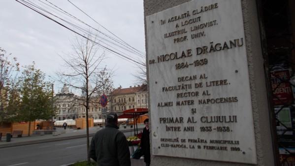 Placa, dezvelită în memoria lui Nicolae Drăganu