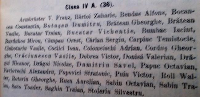 Coclici cl IV 1924 25