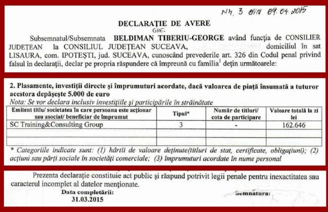 Colaj G BELDIMAN declaratii
