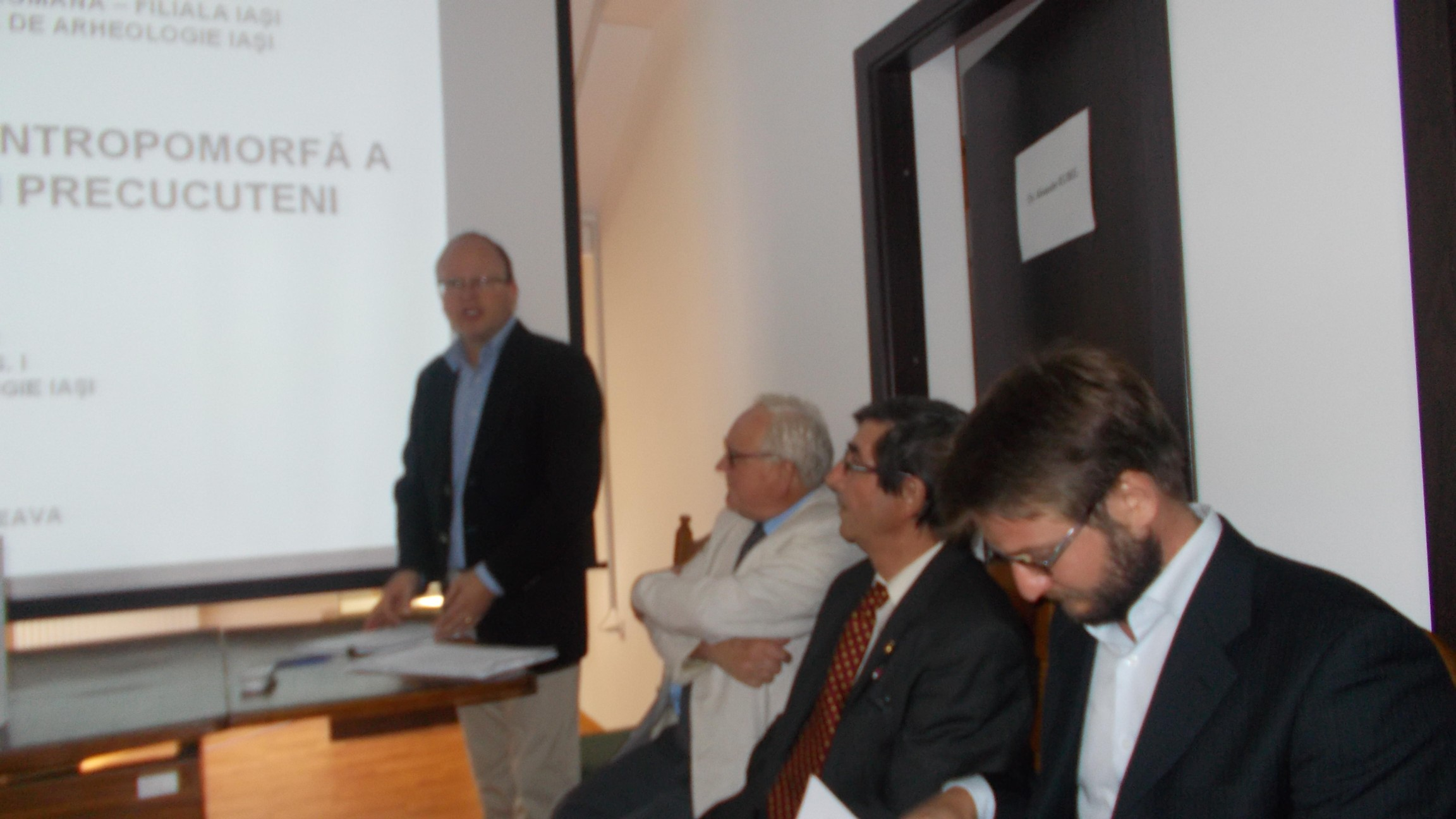 Universitarii Alexander Rudel, Nicolae Ursulescu, Vasile Chirica şi George Bodi.