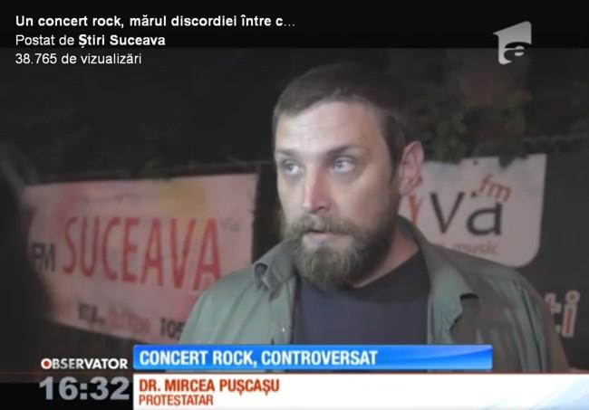 Concert rock controversat