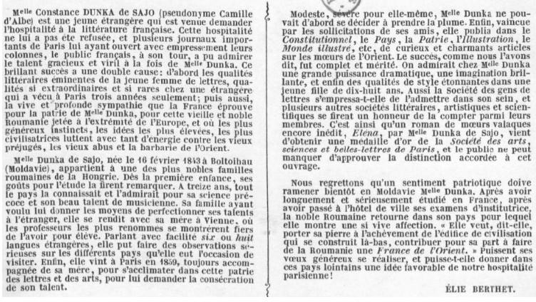Constance Dunka de Sajo portet explicatie