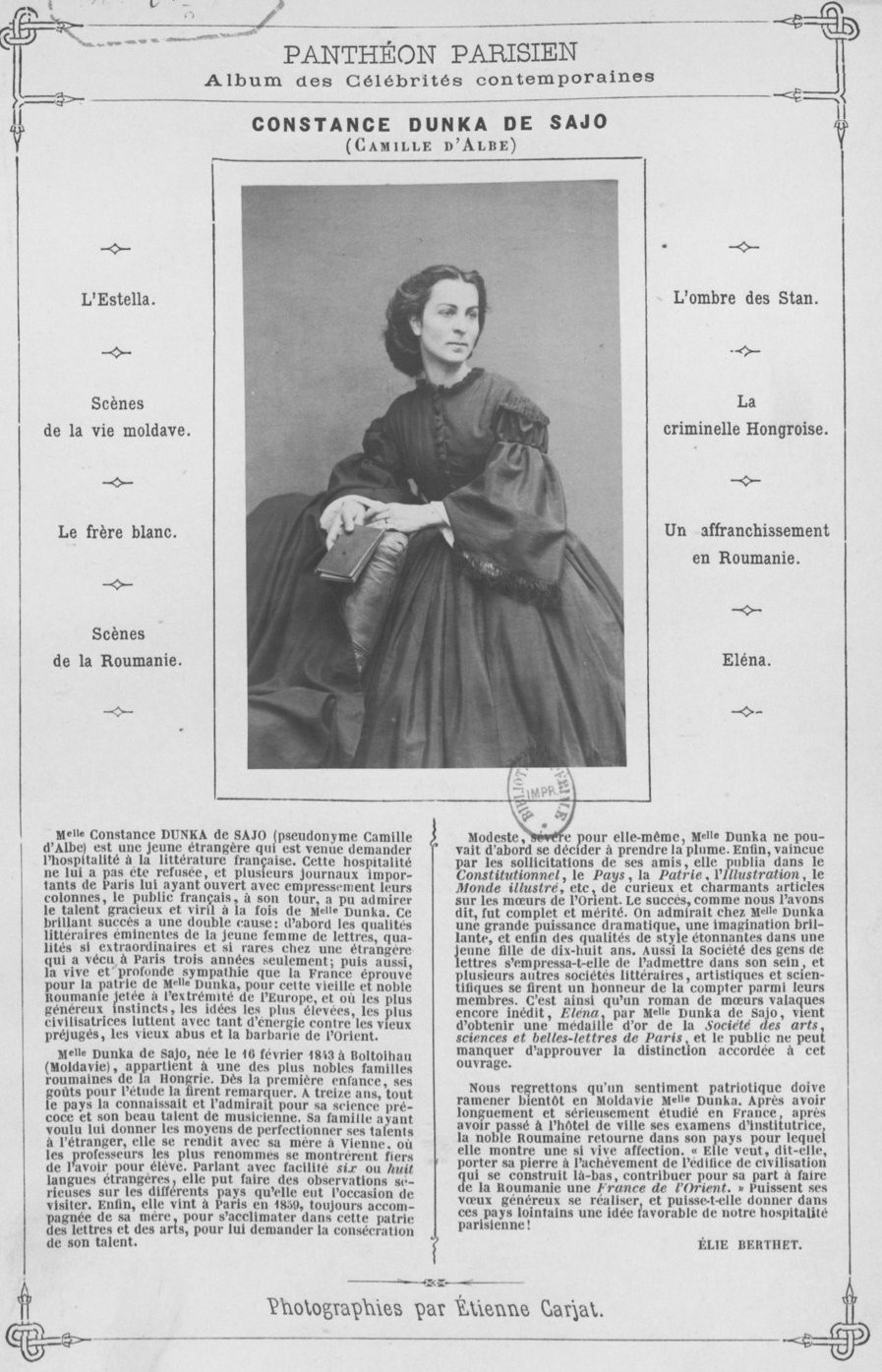 Constance Dunka de Sajo portet