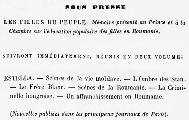 Constance de Dunka sub tipar