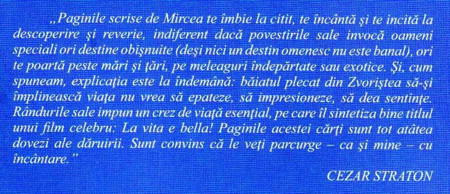 Coperta Mircea Sfichi citat Straton
